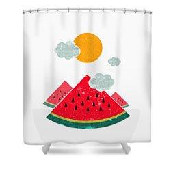 Eatventure Time Shower Curtain by Mustafa Akgul