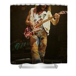 Eddie Van Halen Shower Curtain by Rich Fuscia