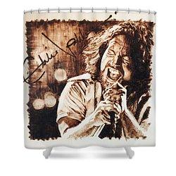Eddie Vedder Shower Curtain by Lance Gebhardt