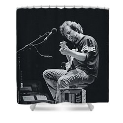 Eddie Vedder Playing Live Shower Curtain by Marco Oliveira