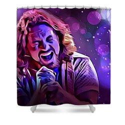 Eddie Vedder Portrait Shower Curtain by Scott Wallace