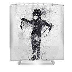 Edward Scissorhands 01 Shower Curtain by Aged Pixel