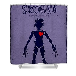 Edward Scissorhands Alternative Poster Shower Curtain by Christopher Ables