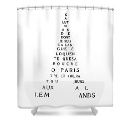 Eiffel Tower Shower Curtain by Guillaume Apollinaire