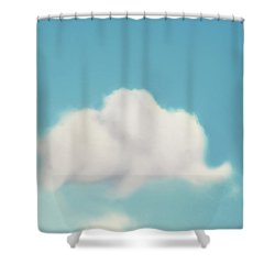 Elephant In The Sky Shower Curtain by Amy Tyler