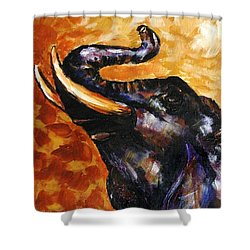 Elephant Song Shower Curtain by Jai Johnson