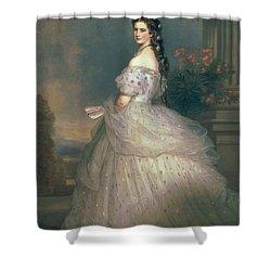 Elizabeth Of Bavaria Shower Curtain by Franz Xavier Winterhalter
