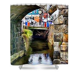 Ellicott City Bridge Arch Shower Curtain by Stephen Younts