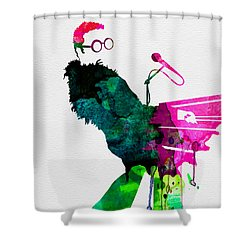 Elton Watercolor Shower Curtain by Naxart Studio