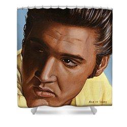Elvis 24 1956 Shower Curtain by Rob De Vries