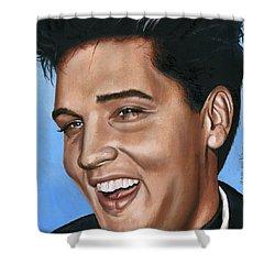 Elvis 24 1960 Shower Curtain by Rob De Vries