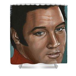 Elvis 24 1968 Shower Curtain by Rob De Vries