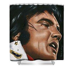 Elvis 24 1974 Shower Curtain by Rob De Vries