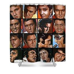 Elvis 24 Shower Curtain by Rob de Vries