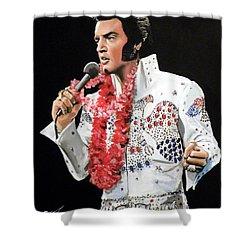 Elvis Shower Curtain by Tom Carlton