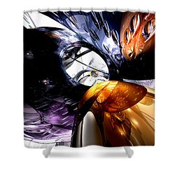 Emotional Scars Abstract Shower Curtain by Alexander Butler