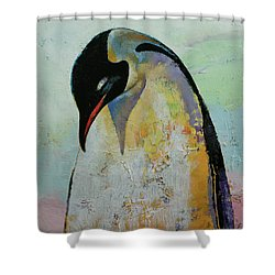 Emperor Penguin Shower Curtain by Michael Creese
