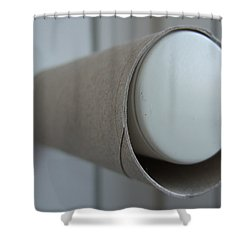 Empty Toilet Paper Roll Shower Curtain by Matthias Hauser