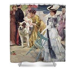 En Famille Shower Curtain by Gustave Grau