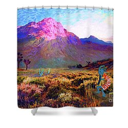 Enchanted Kokopelli Dawn Shower Curtain by Jane Small