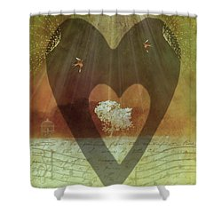 Endless Love Shower Curtain by Holly Kempe