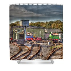 Engine Sheds Quainton Road Buckinghamshire Railway Shower Curtain by Chris Thaxter