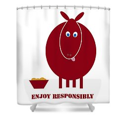 Enjoy Responsibly Shower Curtain by Frank Tschakert