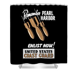 Enlist Now - United States Coast Guard Shower Curtain by War Is Hell Store