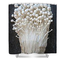 Enoki Mushrooms Shower Curtain by Elena Elisseeva
