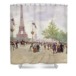 Entrance To The Exposition Universelle Shower Curtain by Jean Beraud