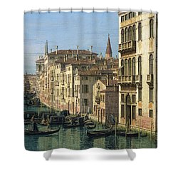 Entrance To The Grand Canal Looking West Shower Curtain by Canaletto