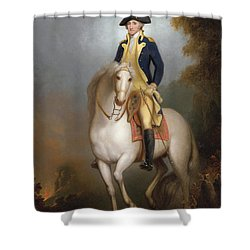 Equestrian Portrait Of George Washington Shower Curtain by Rembrandt Peale