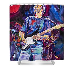 Eric Clapton And Blackie Shower Curtain by David Lloyd Glover