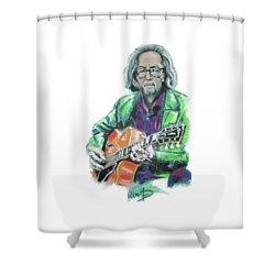 Eric Clapton Shower Curtain by Melanie D