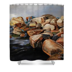 Eternal Things Shower Curtain by Jukka Nopsanen