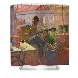 Evening Rooftop Shower Curtain by William Ireland