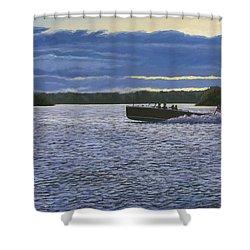 Evening Run Shower Curtain by Richard De Wolfe