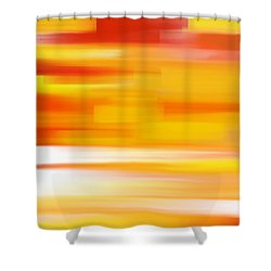 Shower Curtain featuring the painting Evening Sea by Frank Tschakert
