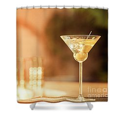 Evening With Martini Shower Curtain by Ekaterina Molchanova
