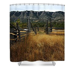 Ewing-snell Ranch 1 Shower Curtain by Larry Ricker