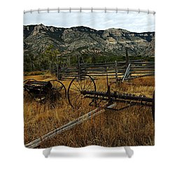 Ewing-snell Ranch 4 Shower Curtain by Larry Ricker