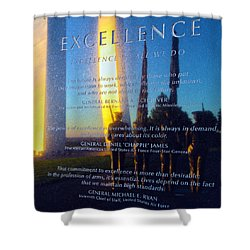 Excellence Shower Curtain by Mitch Cat