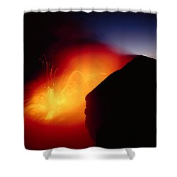 Explosion At Twilight Shower Curtain by William Waterfall - Printscapes
