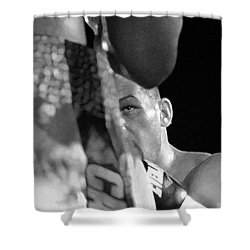 Eye Of The Tiger Shower Curtain by David Lee Thompson