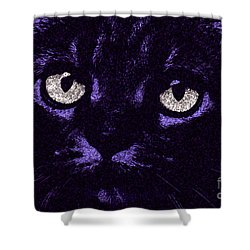 Eyes Straight To The Heart Shower Curtain by Andee Design