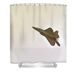 F-22 Raptor Shower Curtain by Sebastian Musial