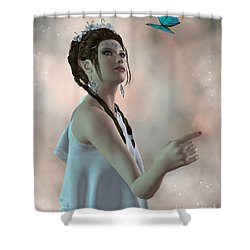 Fairy And Butterfly Shower Curtain by Corey Ford