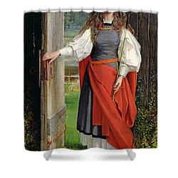 Faith Shower Curtain by George Dunlop Leslie