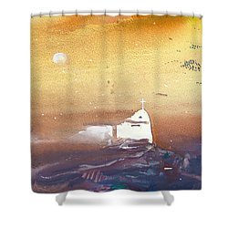 Faith Shower Curtain by Miki De Goodaboom