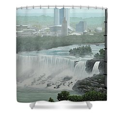 Falls View Shower Curtain by Kenneth M  Kirsch